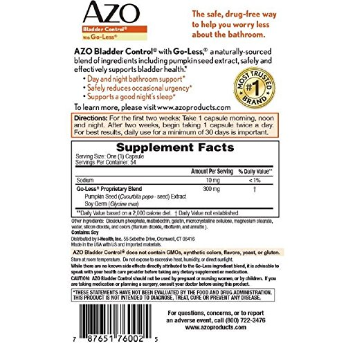 Azo Bladder Control >> Azo Bladder Control 54 Cap Buy Online In Ksa Azo
