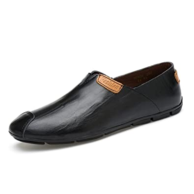 Boy's Men's Pointed Toe Synthetic Slip-On Loafers