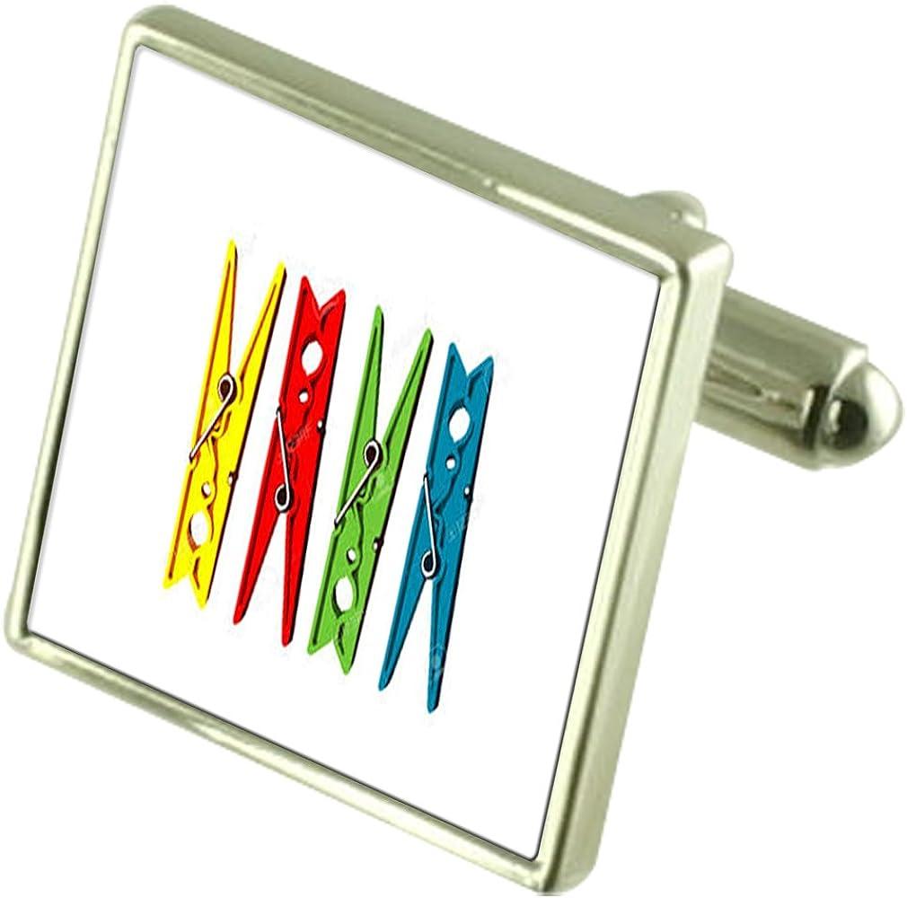Select Gifts Washing Laundry Clothes Peg Engraved Keepsake Message Box