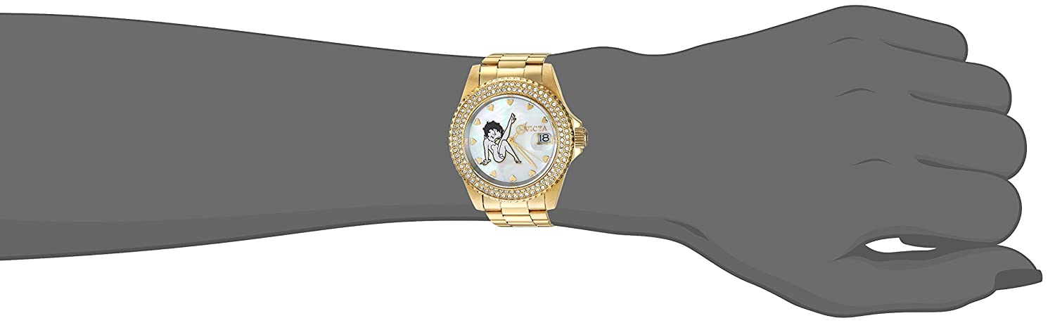 Amazon.com: Invicta Womens Character Collection Quartz Watch with Stainless-Steel Strap, Gold, 20 (Model: 24492: Invicta: Watches