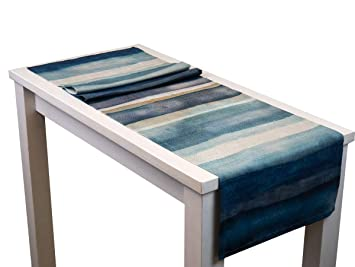 beties Nautic Aqua Mistral Tischl/äufer ca 40x150 cm Elfenbein