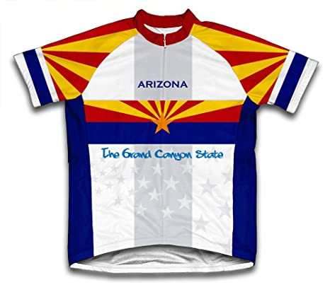 dad7285336d Amazon.com   ScudoPro Arizona Flag Short Sleeve Cycling Jersey for ...