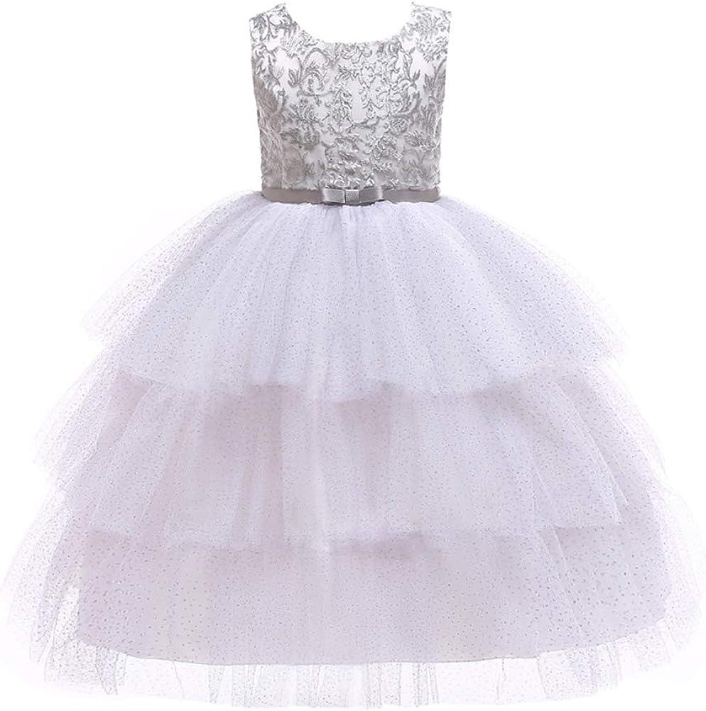 SXSHUN-Abito in Tulle per Bambina Vestito Elegante da Principessa con Stampa di Stelle Senza Maniche