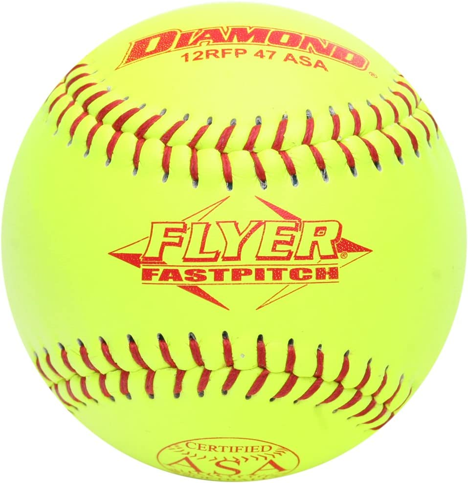 Diamond 12RFPSC 47 ASA Flyer Fastpitch Softball Balls Dozen
