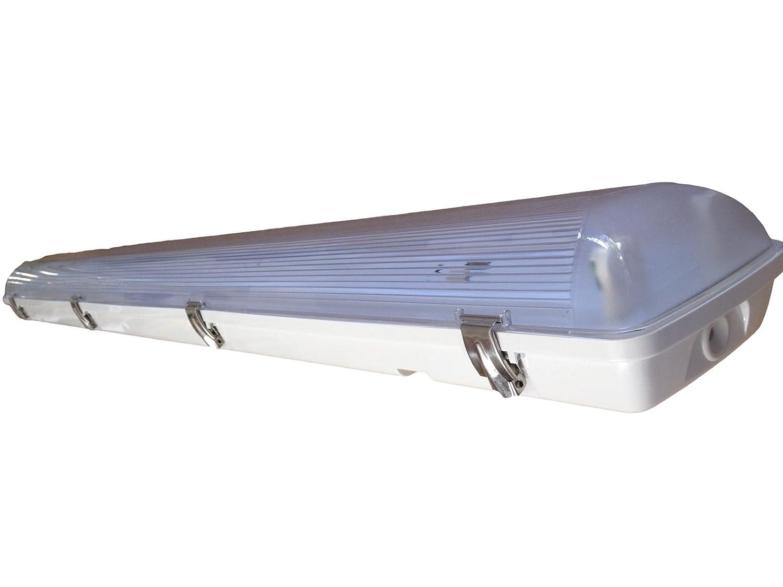 Vapor Tight / Vapor Proof Fluorescent 4\' Fixture 2 Lamp T8 (Quantity ...