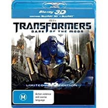 Transformers 3 Dark of the Moon 3D Blu-ray | 3 Discs | Directed by Michael Bay | NON-USA Format | Region B Import - Australia
