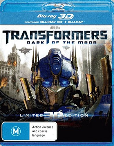 Transformers 3 Dark of the Moon 3D Blu-ray | 3 Discs | Directed by Michael Bay | NON-USA Format | Region B Import - Australia (Transformers Dark Of The Moon 3d Blu Ray)