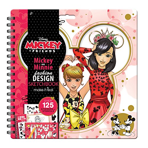 Make It Real - Disney Mickey and Friends Fashion Design Sketchbook. Mickey Mouse & Minnie Mouse Fashion Design Coloring Book for Girls. Includes Sketch Pages, Stencils, Stickers, and Design Guide]()