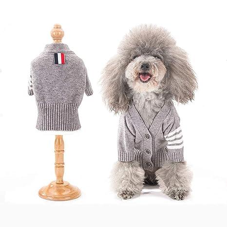 Springisso Mascota del Traje Gris De Moda Suéter Cardigan ...