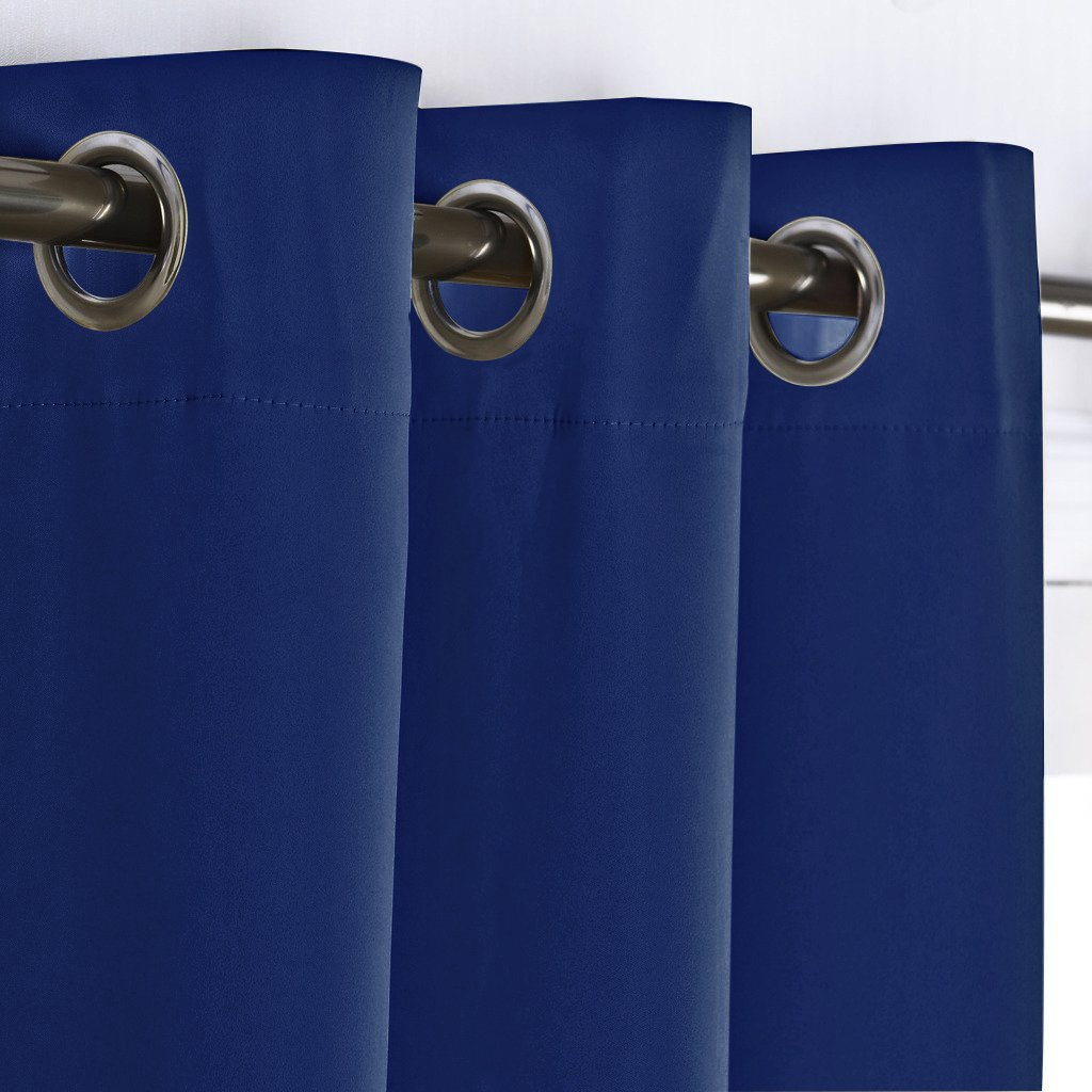 Cobalt blue curtain panels - Amazon Com Blackout Navy Blue Curtain Panel Home Decoration Light Blocking Room Dakening Drape Drapery For Nursery Room By Nicetown Ring Top