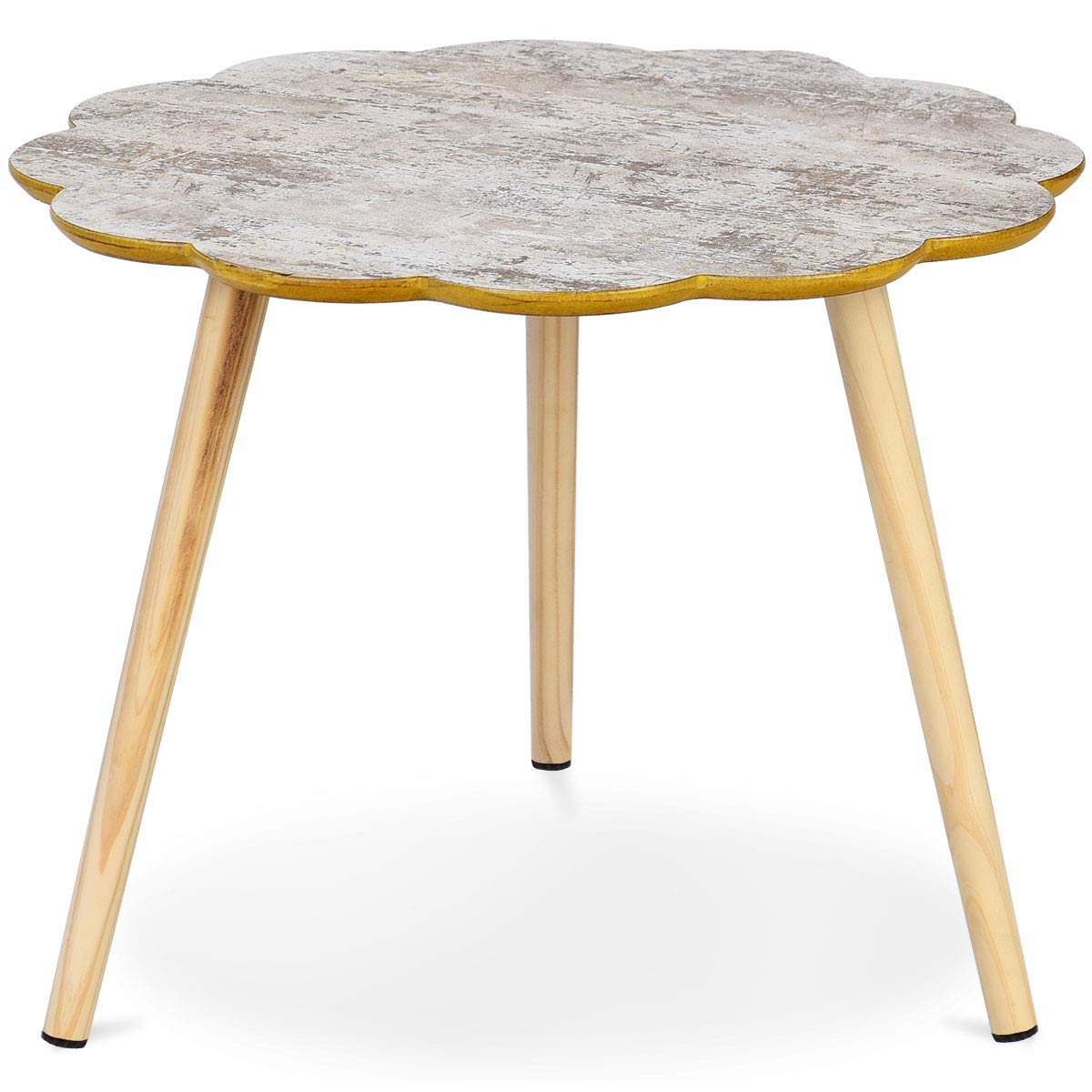 Giantex Nesting Table Flower Shaped Coffee Table Sofa Side Table Accent Home Living Room Furniture End Table