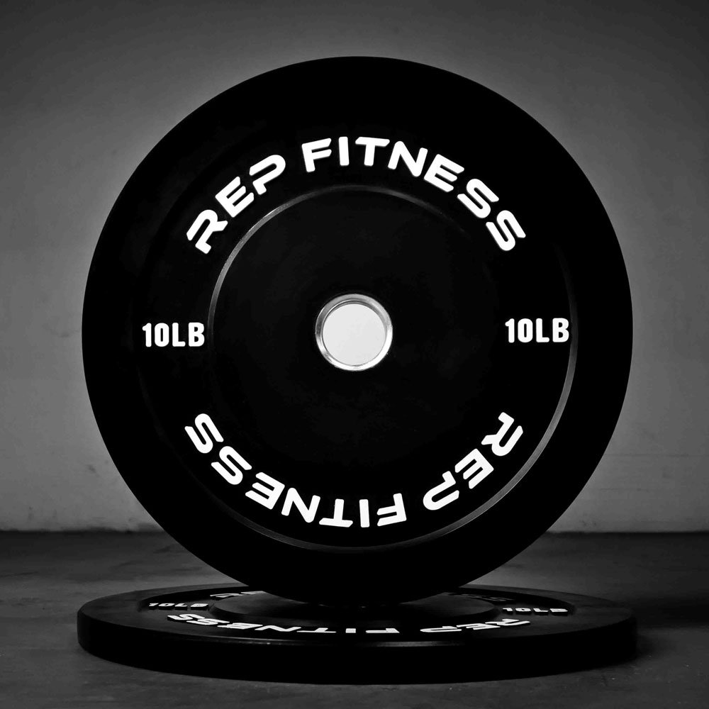Rep Bumper Plates for Strength and Conditioning Workouts and Weightlifting 10 lb Pair by Rep Fitness (Image #2)