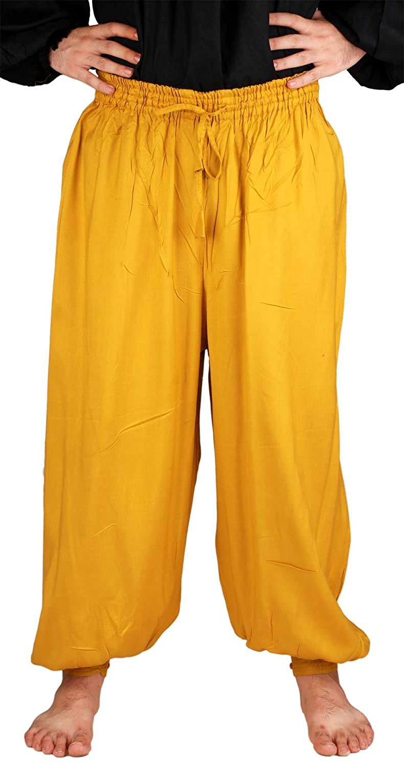 Medieval Pirate Poet's Gold Harem Pants