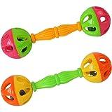 Seliyi 赤ちゃんのガラガラ 赤ちゃんのおもちゃガラガラベル0から12ヶダンベル早期開発の振るおもちゃ