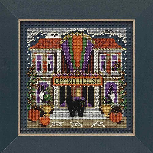 Opera House Beaded Counted Cross Stitch Halloween Kit Mill Hill 2009 Buttons & Beads Autumn MH149201