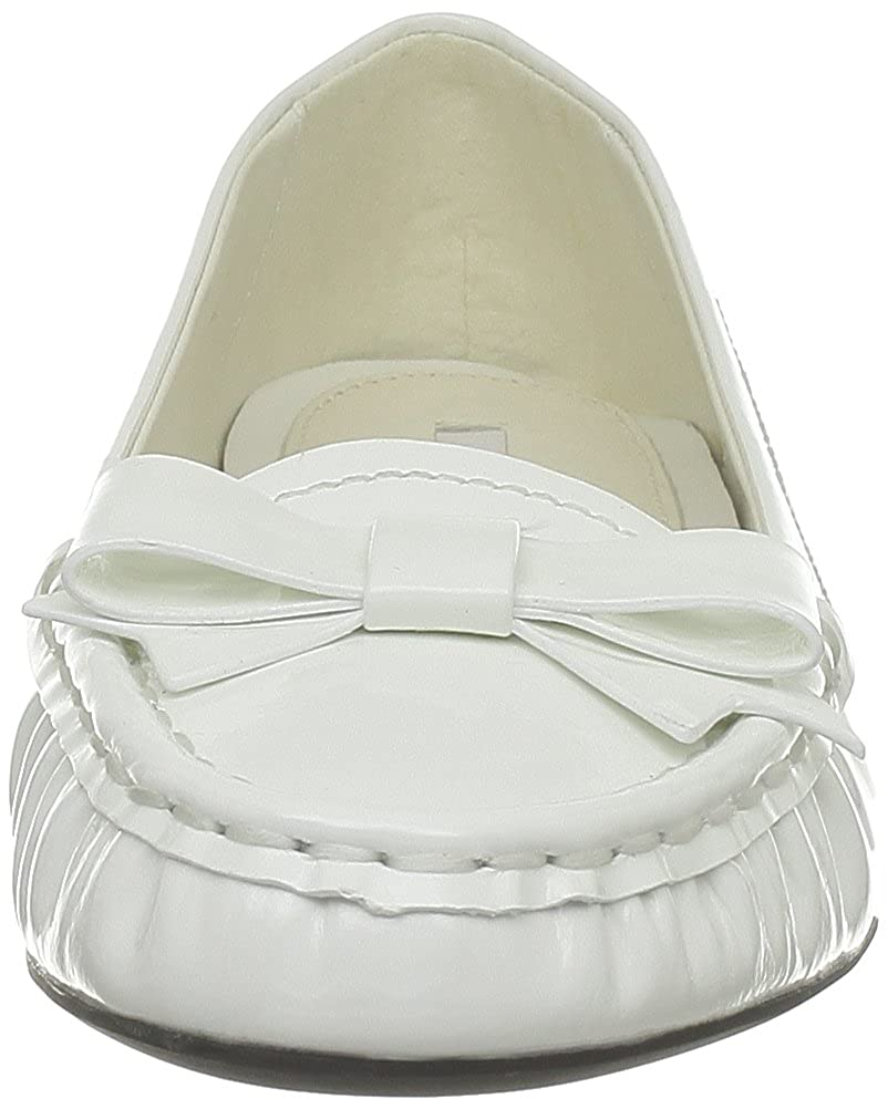 Geox Primula S, Mocassins femme - Blanc (C1000), 36 EU