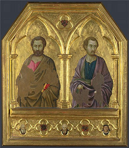 Oil Painting 'Saint Simon And Saint Thaddeus (Jude)about 1324-5, Ugolino Di Nerio' 30 x 34 inch / 76 x 87 cm , on High Definition HD canvas prints, gifts for Gym, Home Office And Laundry Room decor