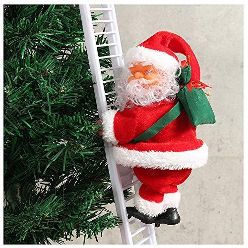 Belegend 1 Pcs Electric Climbing Ladder Santa Claus Christmas Figurine Ornament Decoration ()
