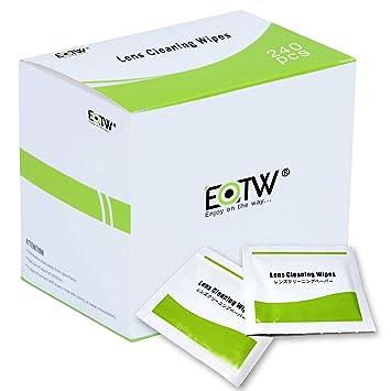 Toallitas Limpia Gafas, EOTW 240 Unidades Prehumedecidas Limpieza de Lentes para Iphone Samsung Galaxy Ipad
