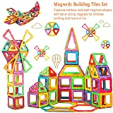 Leapom Magnetic Tiles 134 Piece, Magnet Building