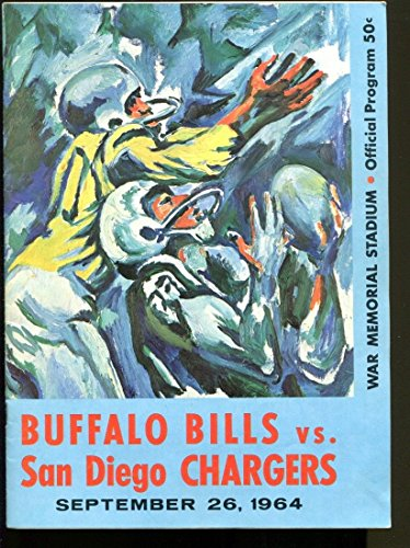 1964 Buffalo Bills v San Diego Chargers Program AFL 9/26/64 Ex/MT (1964 Buffalo Bills)