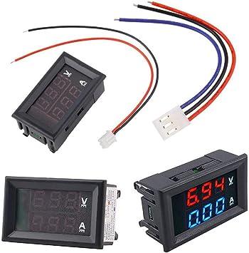 Tenlso amperímetro Digital voltímetro, 0,28 Pulgadas LED DC ...