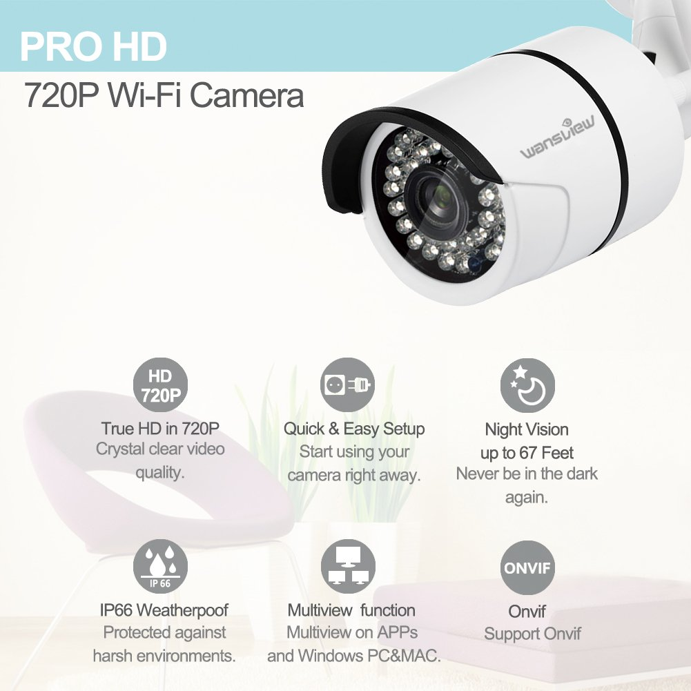 Wireless WiFi IP Surveillance Bullet Camera Wansview Outdoor Security Camera