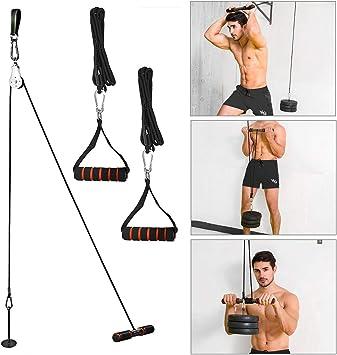 Home Gym Lat Pull Down Polea De Cable Correa Colgante De Entrenamiento Equipo Entrenamiento