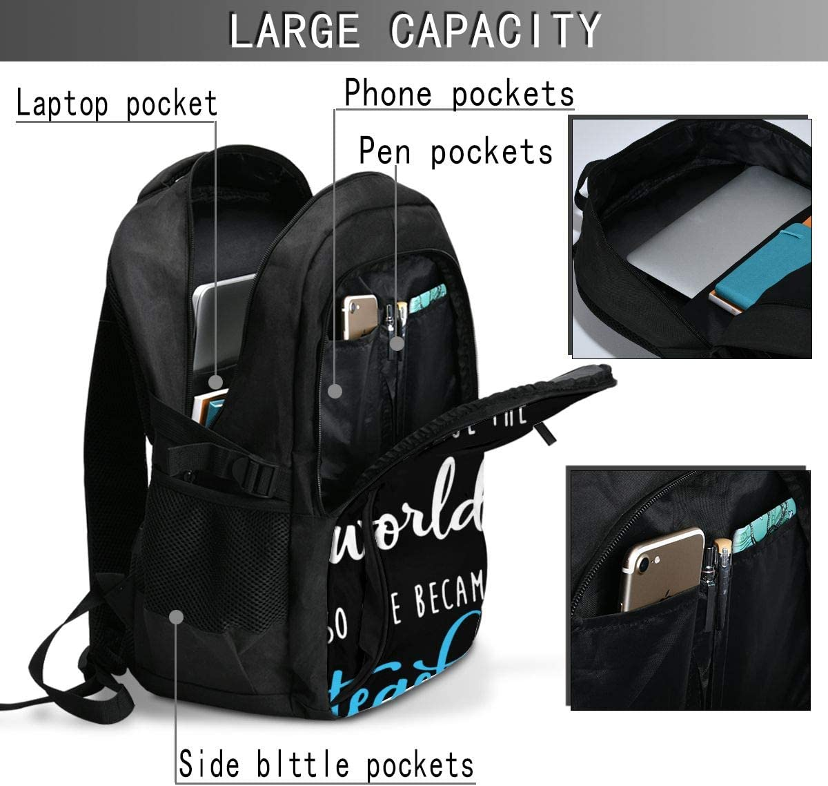 Male and Female Backpacks with Male and Female USB Charging Ports Hyh Trumps Interesting Feeling Business Travel Laptop Backpack Anti-Theft Ultra-Thin Laptop Backpack