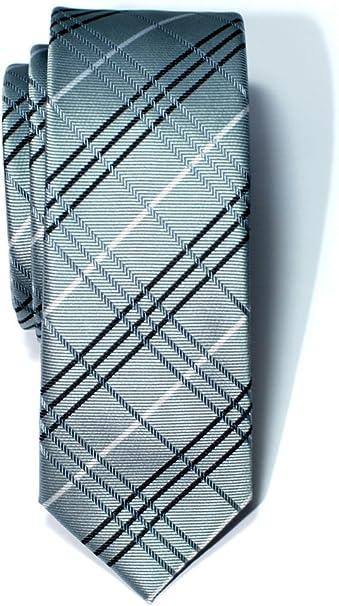 Corbata de microfibra fina con estampado a cuadros para hombres ...