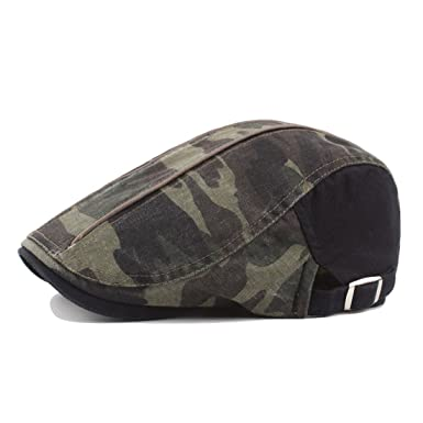 8859bc9002e BigForest Men Women Camo Cotton Flat Hats Vintage Ivy Gatsby Newsboy  Duckbill Caps