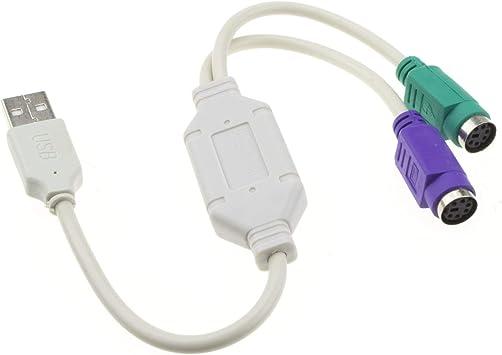 USB a Dual PS2 Active Adaptador Teclado & Ratón Cable Cable ...