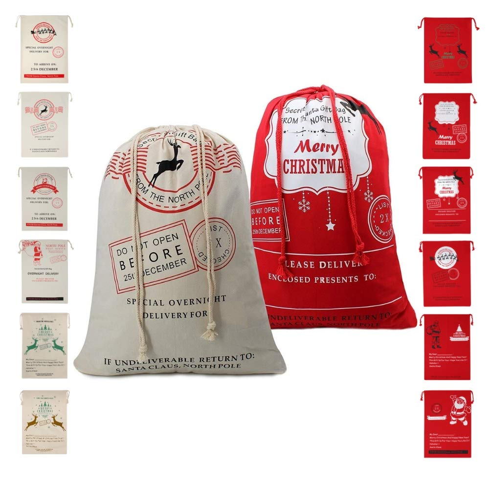 5744b37c57e9 Christmas Bag Santa Sack Canvas Bag For Gifts Santa Sack Special ...
