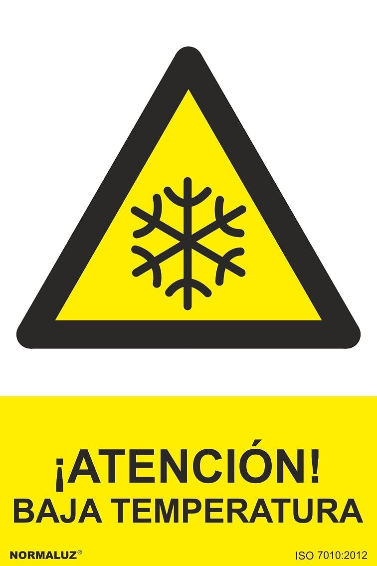 Normaluz RD30016 - Señ al ¡ Atenció n! Baja Temperatura PVC Glasspack 0, 7 mm 21x30 cm