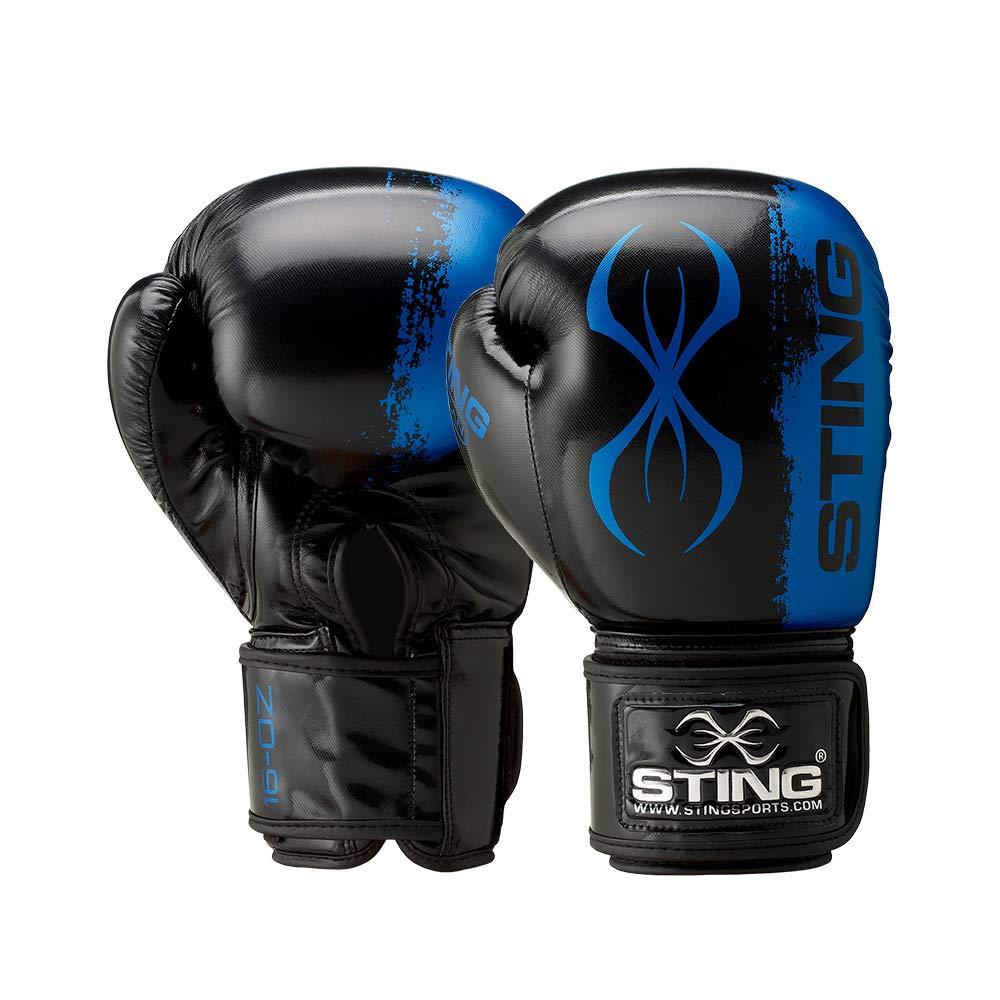 STING メンズ バルカン スパーリング&バッググローブ ブルー 16 oz