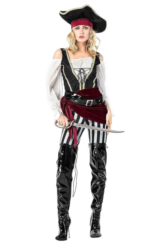 Amazon.com: Joyshop Disfraz de pirata de Halloween para ...