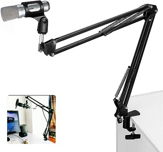 micrófono Boom tijera de suspensión brazo soporte de escritorio ...