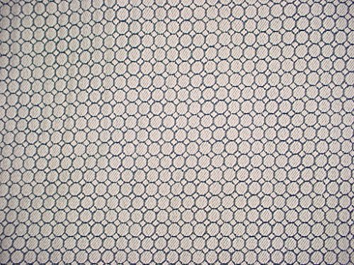 Se7en Texiles Terrace in Naval - Heavy Navy / White Circle Matelasse Cotton Designer Upholstery Drapery Fabric - By the Yard (Contemporary Fabrics Drapery)