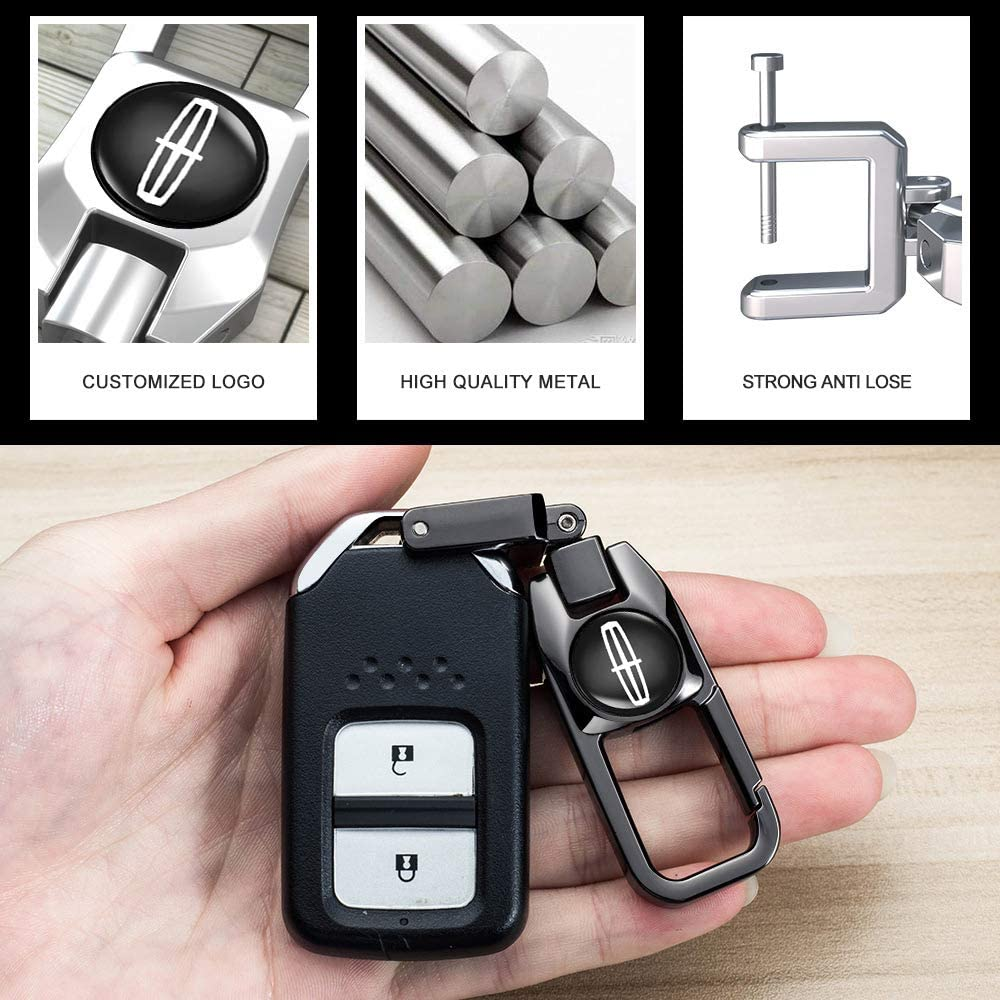 2013-2017 MKT Genuine Leather Protector Keychain Suif for Lincoln 2013-2016 MKS 2014-2017 Navigator; 2016-2017 Ford Edge Explorer Key Fob cover case Smart Key 2011-2015 MKX Car Key Case
