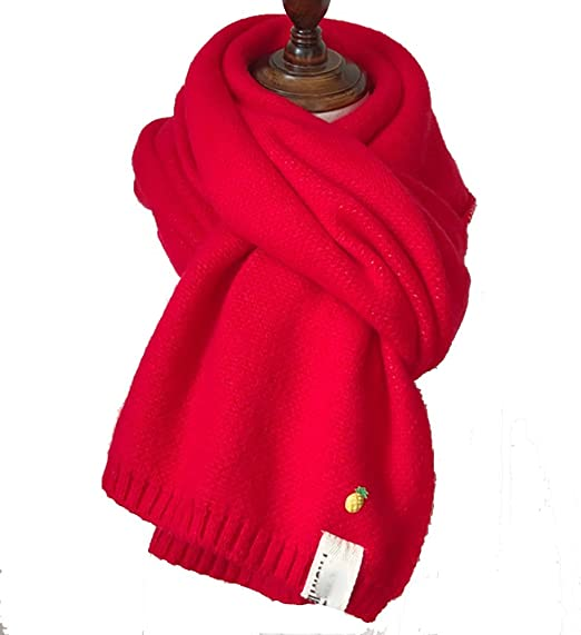 Bufanda Chal Hecha Punto Europa algodón Mujer del paño Grueso y Suave algodón Colores (tamaño: 2: Amazon.es: Hogar