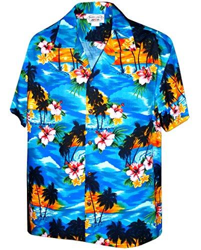 Pacific Legend Sunset Beach Palm Tree Hawaiian Shirt (XL, ()