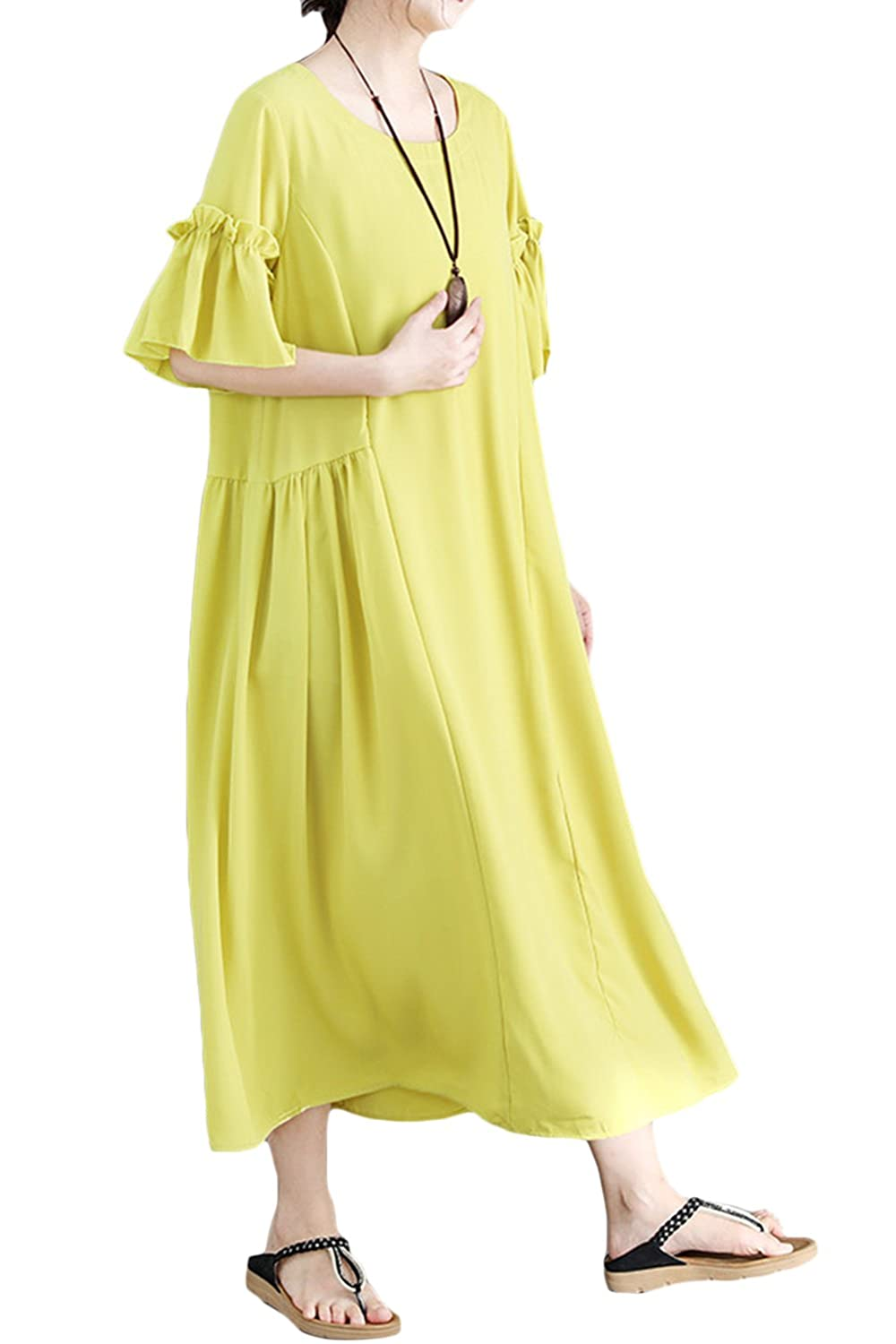 46b500b68e4 ... Short Sleeve Casual Maxi Dresses Summer Beach Linen Dresses. Wholesale  Price 27.99 50% cottom+50%linen. Made in China No Fur compision. Pull On  closure