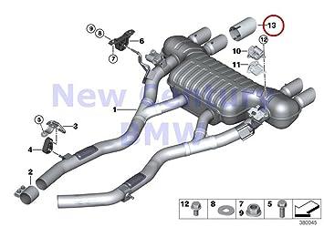 4 X Bmw Genuine Exhaust System Rear Chromeomee Tailpipe Tip M3 M3 M4