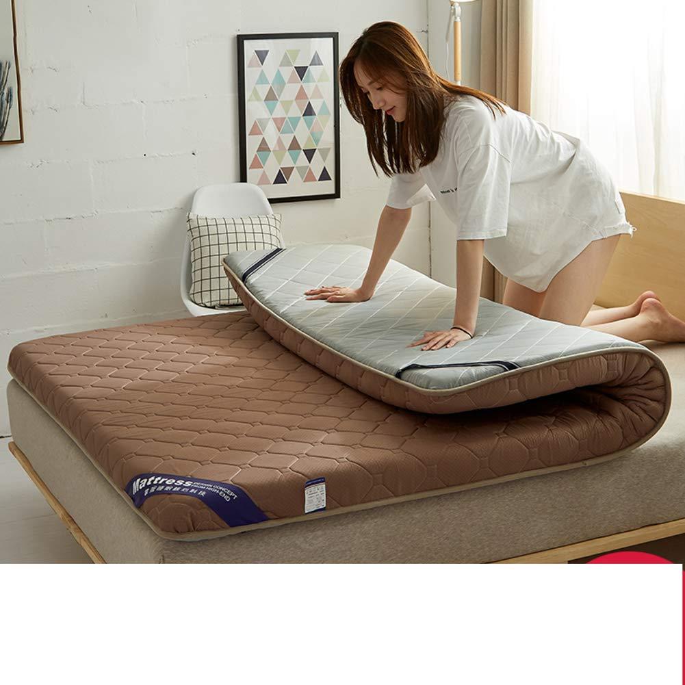 厚く マットレス トッパー キルト スカートの装着と, 畳 床 マットレス 食品 枕 パッド-Coffee B07JL7SWPC Coffee 150x190cm(59x75inch)