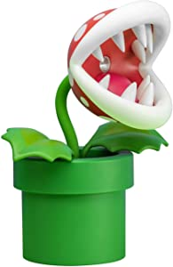 Paladone Piranha Plant Posable Lamp BDP | LED Light with Flexible Head for Nintendo Fans | Officially Licensed Super Mario | 33cm Tall USB Powered, Red and Green