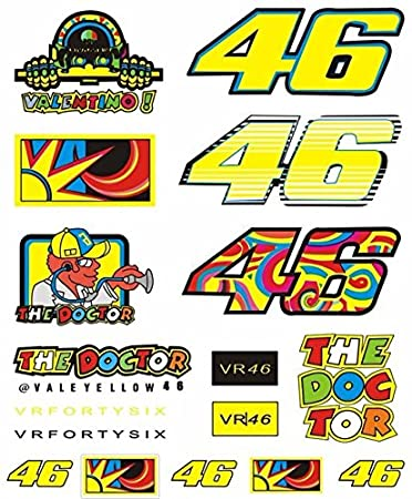 Valentino Rossi VR46 46 Large Sticker Pack 13 Mixed Decals Official Merchandise