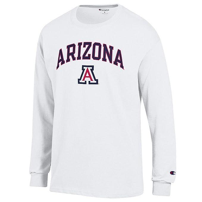 656dfb66 Amazon.com : Elite Fan Shop NCAA Mens Long Sleeve Shirt White Arch :  Clothing