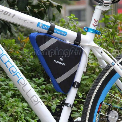 2015 Blue New Cycling Bike Bicycle Frame Front Tube Triangle Bag Quick - Stores Mall Triangle
