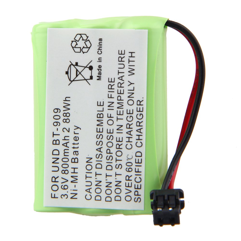 3.6V 800mAh 3*AAA Extended Capacity Cordless Phone Battery for Uniden: BT-909, TRU-9380, TRU-9380-2, TRU-9380-3, TRU-9380-4, TRU-9385, TRU-9385-2.