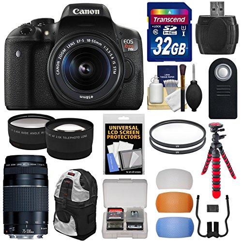 Canon EOS Rebel T6i Wi-Fi Digital SLR Camera & 18-55mm IS ST